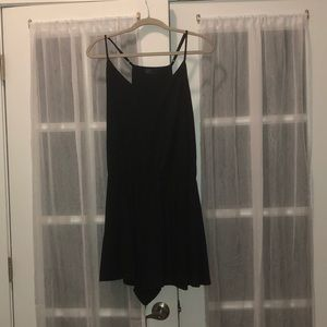 Black romper with adjustable straps from gap